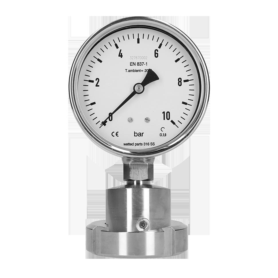 PBQ Sanitary gauge with chemical seal