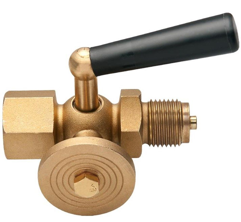 Pressure gauge tap with control flange