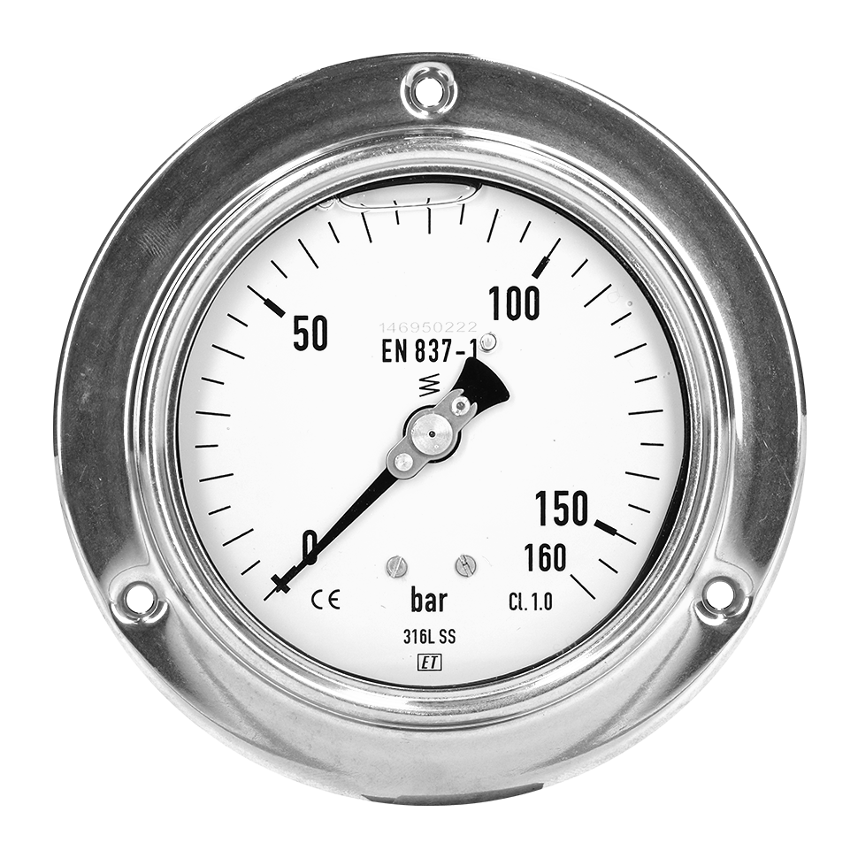 Pressure gauges dry panel assembly