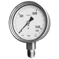 Standard pressure range 0.6 to 4000 bar