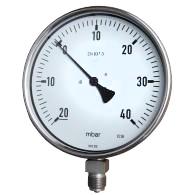 Standard pressure range 4 to 400 mbar