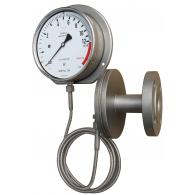 PFQ Sanitary gauge with chemical seal and distance pipeline